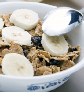 Bran Flakes Banana Fat Free Milk Weight Loss Diet