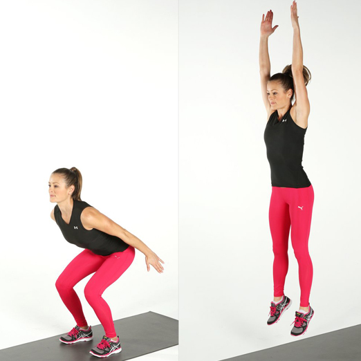 Squat Jump Exercise Fat Burning Workouts