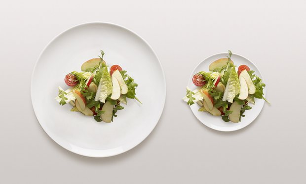 By using smaller plates for your meals you can actually trick your brain into thinking that you are eating more!