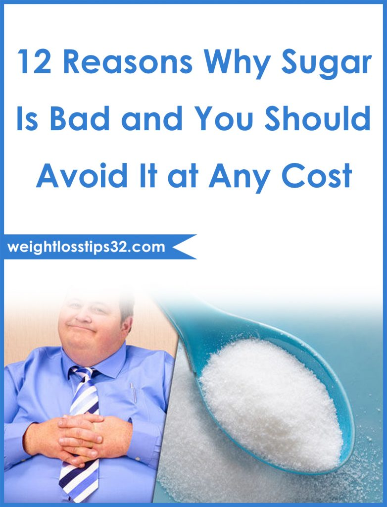 12 Reasons Why Sugar Is Bad and You Should Avoid It at Any Cost Pinterest