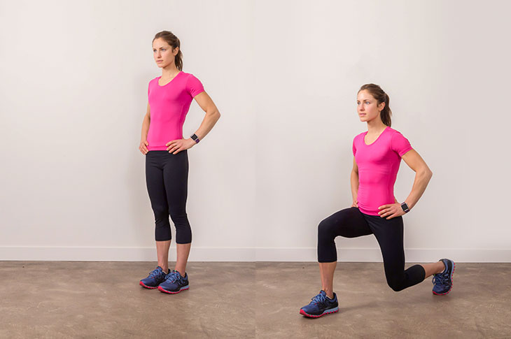Lunges - How to Lose Thigh Fat for Teenage Girl