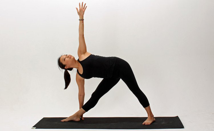 Stretched triangle posture - How to Reduce Buttocks for Female